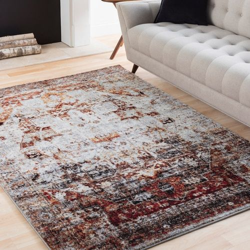 Analisa Ana With Colors Dark Red Dark Red Ivory Black Bright Orange Medium Gray Bright Yellow Machine Woven 100 Polypropylene U Rugs Rugs For Less Area Rugs