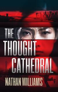 The Thought Cathedral designed by Damonza.com | JF: This thriller cover uses focus not once, but twice to steer us right where the designer wants us to look: at the face revealed in the rectangle, then on the eye at the center of the focusing target. Although other elements are present, they are suppressed to allow the main element to predominate. ★
