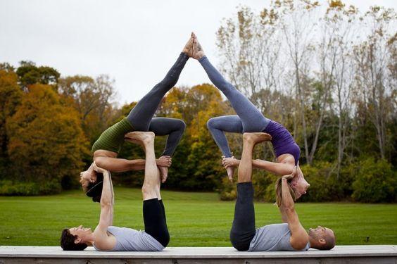 4 People Yoga Google Search Partner Yoga Pinterest