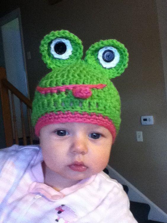 Crochet Frog hat by FiFiBeesFancy on Etsy, $12.99