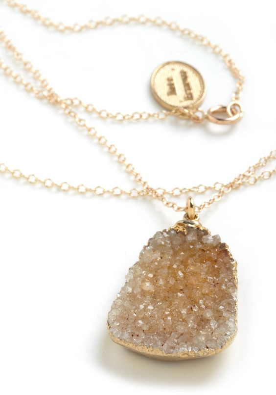 Geode to Beauty Necklace | Mod Retro Vintage Necklaces | ModCloth.com