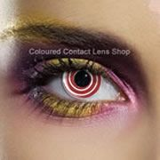 Red Spiral Coloured Contact Lenses