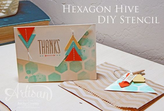 Great way to use the Hexagon Hive Thinlits Die