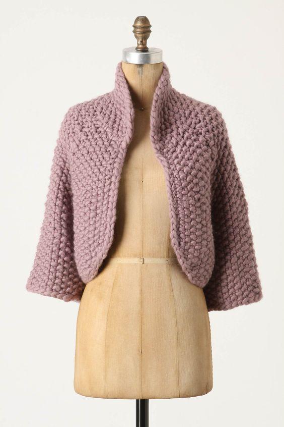 Cozy nubby knit
