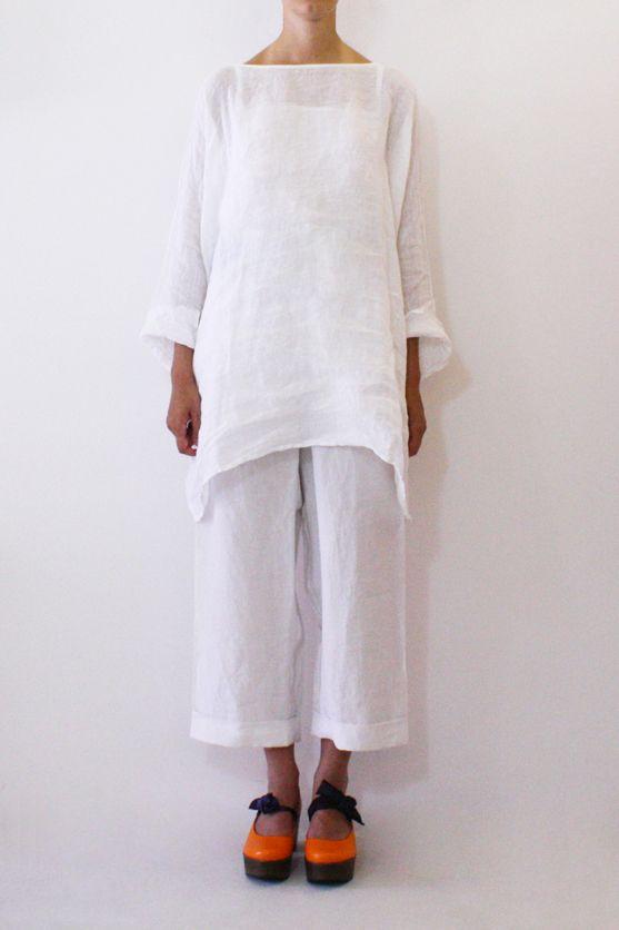 Daniela Gregis washed long round neck shirt