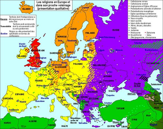 Contemporary Map of religions in Europe It would be very - top 20 kuchenhersteller europa marken