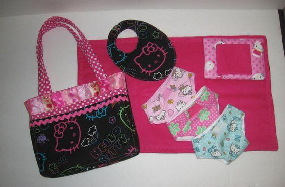 Bitty bébé ou autres nuisettes sac à couches avec par girlydezines