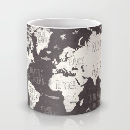 The World Map Mug by Mike Koubou | Society6 i need this