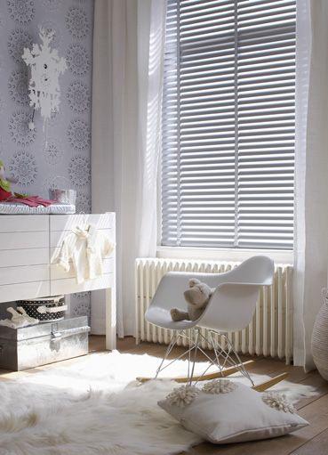 grey and white eames rocker nursery