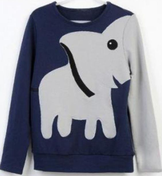 I need this elephant sweater in my life. honestly if someone got this for me i would cry. just sheer tears of joy.