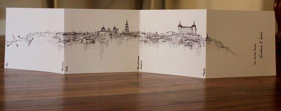recuerdo para regalar en BODAS _ slyline Toledo (bic pen) artist: marinaggalietero