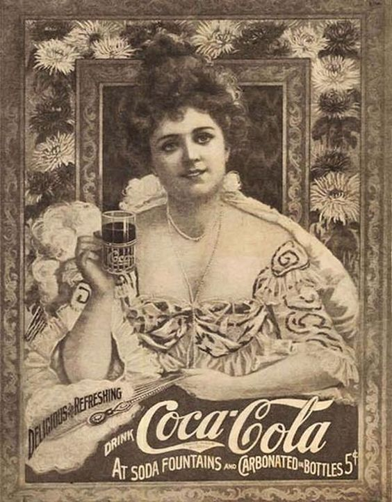 "Cartaz da ""Coca Cola"" do secúlo XIX."