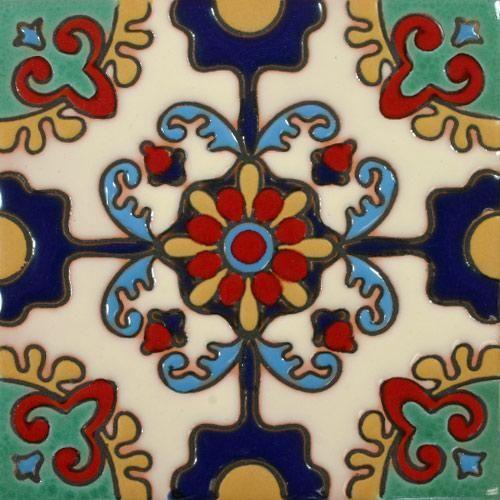 Prima Mexican Tile Otono Azul Y Mostaza Mosaic Tiles