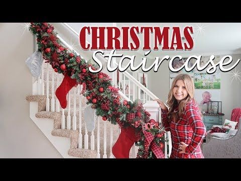 How To Decorate Staircase Garland For Christmas Holiday Decorating Ideas Youtube Cheap Christmas Wreaths Holiday Decor Diy Christmas Garland