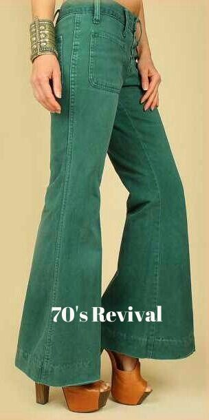 I can't believe these pants are back! Must've had several back in the day ('70's). A must with platform shoes.