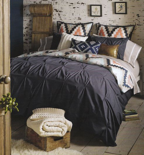 I'm in love with this bedding! Harper Navy Blue  by Bliss Living Home