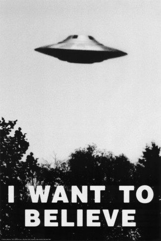 "Poster made famous by ""The X-Files"". It hung on the wall in Fox Mulder's office."