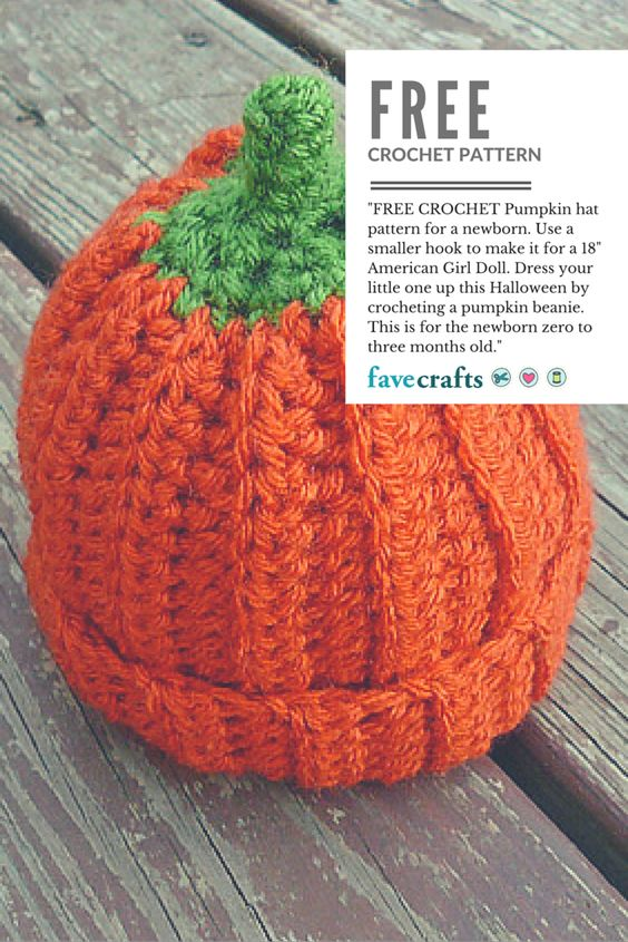 Free Pattern Crochet Pumpkin Hat : Baby Pumpkin Crochet Beanie Pattern Pumpkins, Hats and ...