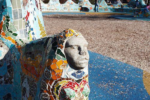 Dragon Mosaic Sculpture – Fannie May Dees Park – Nashville, Tennessee – Mosaic Artist – Pedro P Silva | Mosaic Art Source