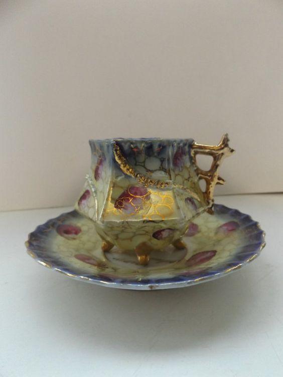 vintage 1950s tea cup and saucer tea party unusual souvenir weston super mare bone china homeware: