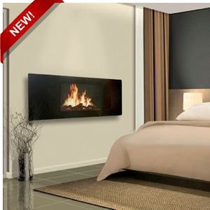 Wall mount electric fireplaces and master bedrooms on for Bedroom electric fireplace