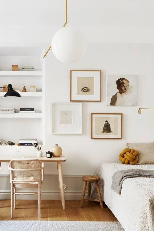 北欧インテリア ホワイト 寝室 コーディネート例