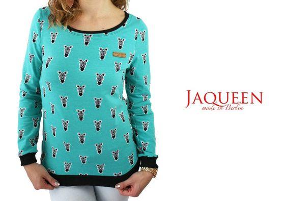Sweatshirts - Pullover türkis - ein Designerstück von JAQUEEN-handmade-streetwear-berlin bei DaWanda