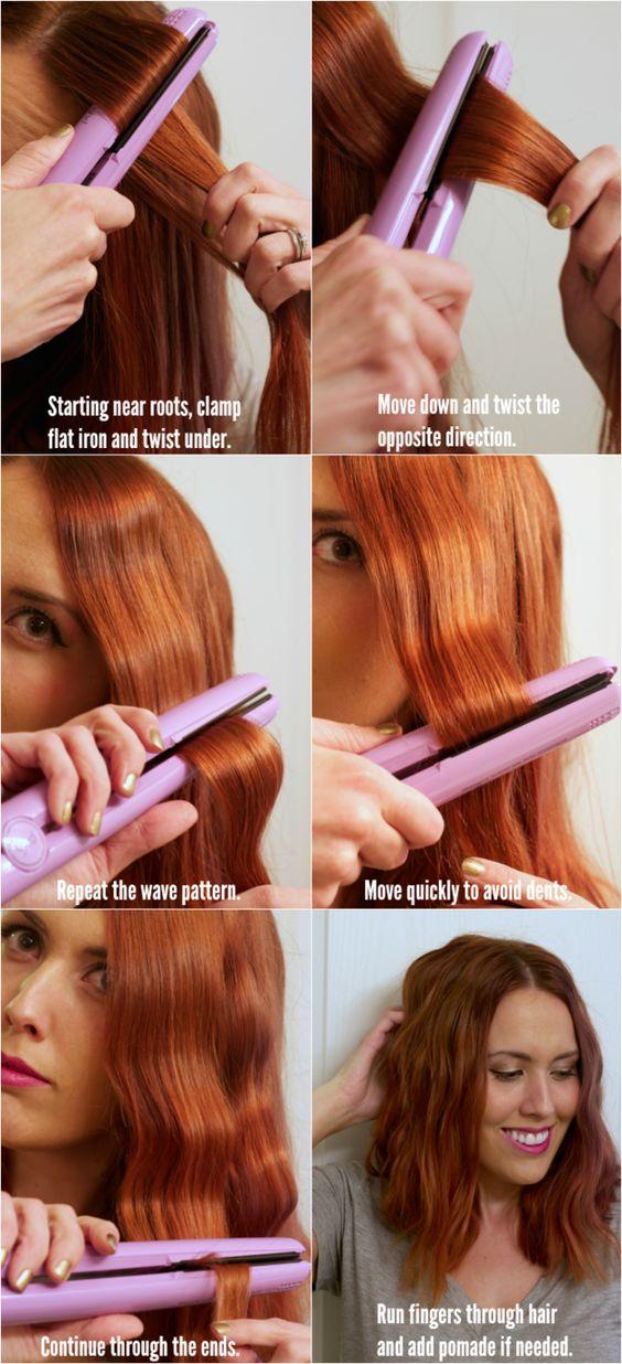 O hazte unas ~ondas~. | 17 Útiles trucos para cualquiera que use una plancha para el pelo