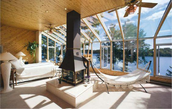 sunroom with wood - beautiful