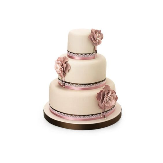 Wedding Magazine - Wedding Cakes - Contemporary Cakes ❤ liked on Polyvore featuring food, cake, wedding, wedding cake and food and drink
