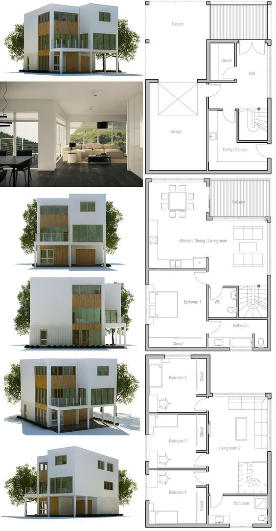 Small Lot House Plan Minimalist House Design Modern Minimalist House Contemporary House Plans House plans for a small lot