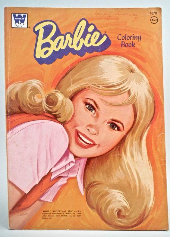 Barbie Doll Coloring Book - Whitman 1974 Vintage in Dolls & Bears, Paper Dolls, Vintage   eBay