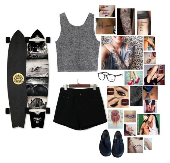 """Untitled #173"" by secretslauren on Polyvore featuring Ray-Ban and Vans"