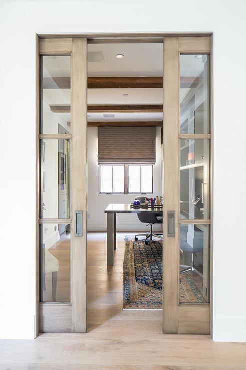 50 Beautiful Inspirations For Interiorbarndoorsforclosets In 2020 Glass Office Doors Glass Pocket Doors Glass Doors Interior