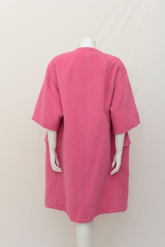 vintage pink swing coat   1950s Harvey Nichols Swing Coat