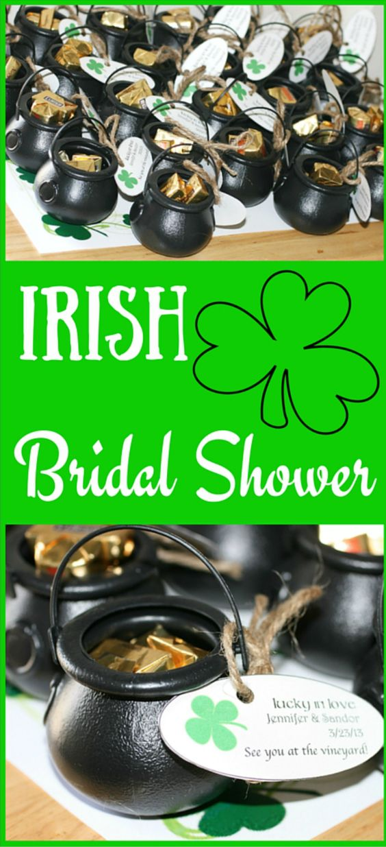 How to throw an Irish themed bridal shower.