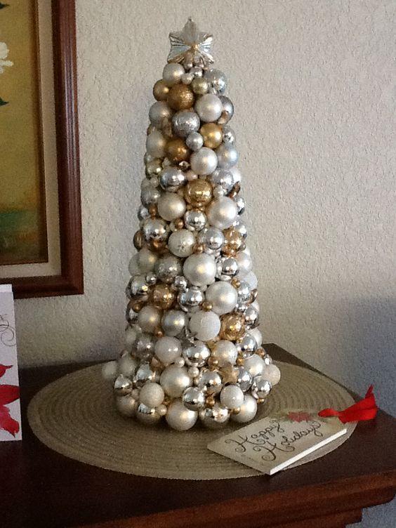 A glass ornament tree.