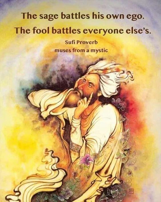 साधु अपने अहंकार से लड़ता है। मूर्ख हर किसी से लड़ता है।❤ . . . . . .#saints #sage #ego #fool #awakening #awareness #awake #enlightenment…
