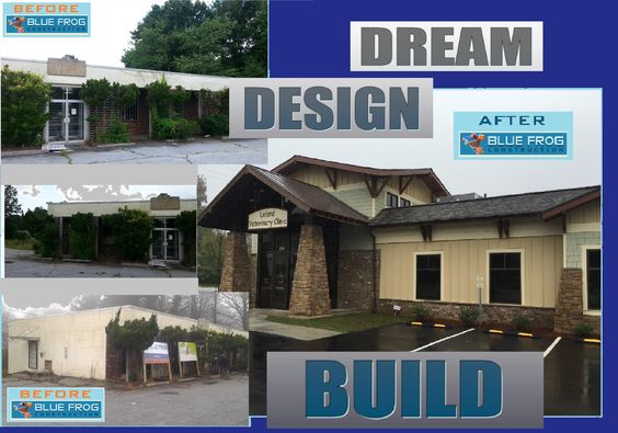 Veterinary total renovation & expansion with #Craftsman construction #BeforeandAfter by #BlueFrog Design-Build Firm