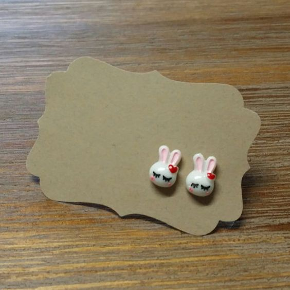Hey, I found this really awesome Etsy listing at https://www.etsy.com/listing/183856494/little-white-bunny-earrings-for-easter