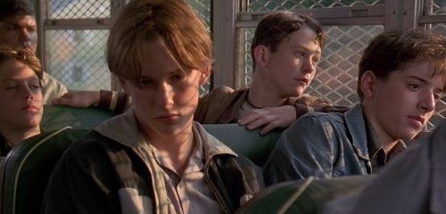 Brad Renfro Jonathan Tucker Joe Perrino And Geoffrey Wigdor In Sleepers 1996 Brad Renfro Sleepers Movie Film Stills