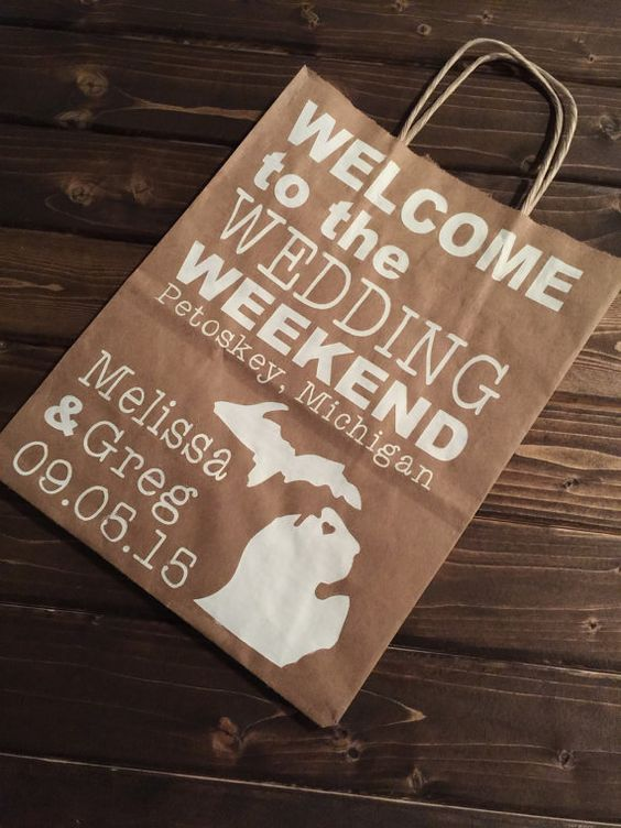 Welcome To Our Wedding Weekend Gift Bags: Hotel Welcome Bags, Paper And Wedding Planning On Pinterest