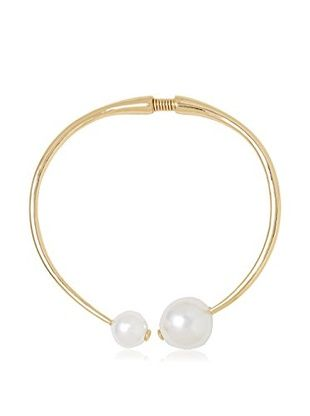 Kenneth Jay Lane Double Pearl Collar Necklace
