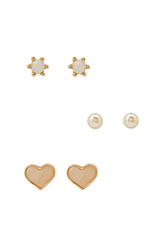 Hearts & Studs Earring Set | FOREVER21 - 1000067225