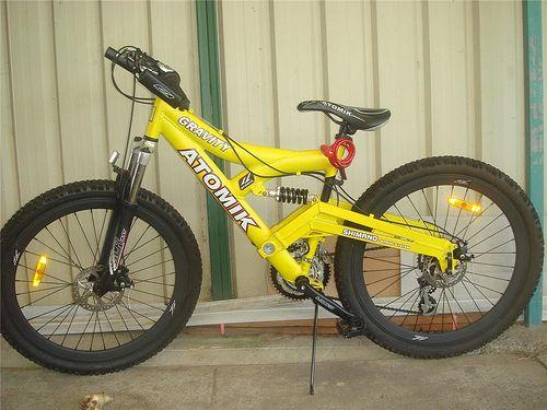 My Atomik Gravity Mountain Bike In Yellow Mountain Offroad