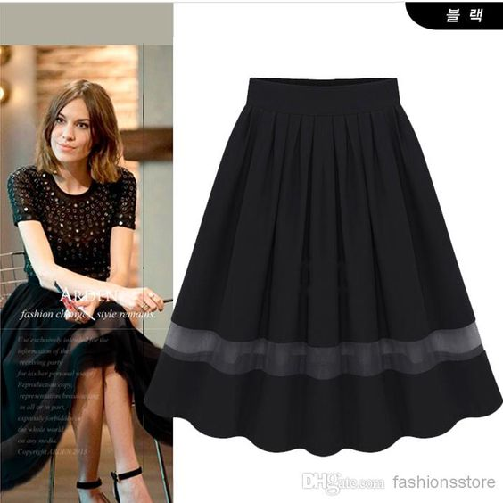 2014 Summer Fashion Midi Tulle Skirt Women High Waist Black White ...