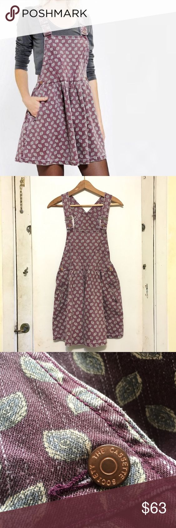 Cassette Society overall dress NWOT The Cassette Society overall dress from Urban Outfitters, size S Urban Outfitters Dresses