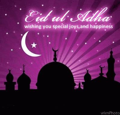 Eid Mubarak to all my friends especially my Muslim ones.