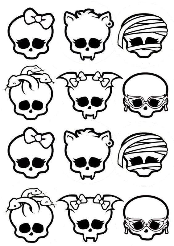 coloring pages monster high skull - photo#29