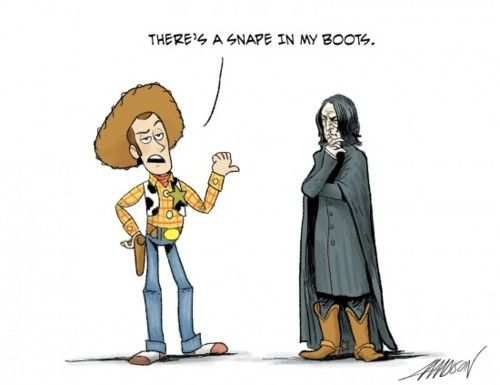 A Snape in my boot!